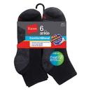 Hanes Men's ComfortBlend Max Cushion Ankle Sock 6-Pack