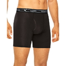 Hanes UABLB3 Ultimate Men's FreshIQ X-Temp Air Long Leg Boxer Briefs Assorted Black/Grey 3-Pack