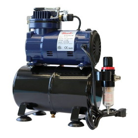 Paasche D3000R Diaphragm Compressor W/ Tank & Regulator