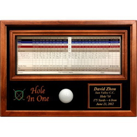 PAS Hole In One Ball and Scorecard Display, hole in one ball display
