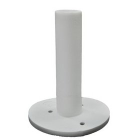 "PAS 2 3/4"" Dura Rubber Tee, White, Price/Each"