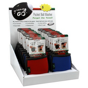 PAS Green Go Pocket Ball Washer--Display of 20