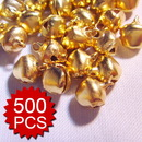 Aspire 500PCS 10mm Gold Plated Jingle Bells, DIY Party Favors