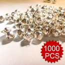 Aspire 10mm Silver Tone Bells Wholesale, DIY Party Favors, Christmas Gift Idea