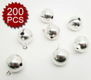 "Aspire 6mm 1/4"" Sliver Plated Small Jingle Bells, DIY Party Favors"