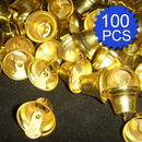 Aspire  100PCS 26mm 1.02inches Gold Tone Bells, DIY Party Favors