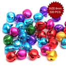 Aspire Multi-color Miniature Bells for Party & Holiday Decoration, 6mm, 500pcs