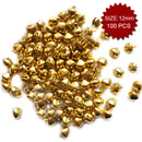 Aspire Irony Gold Tinkle Bells, Jewelry Pendants, 12mm, 100pcs