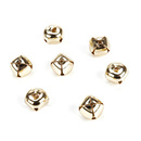 Aspire Gold-plated Cross Jingle Bells for Bycicle accessories, 12mm, 100pcs