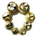 Aspire Gold Jingle Bells for Crafted Projects, 18mm, 100pcs
