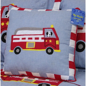 PEM America PQW0439DP-1100 Cotton Fire Truck Pillow