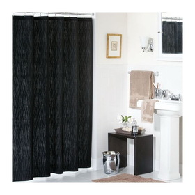 PEM America SC4259BK72-6200 Park Avenue Shower Curtain Black