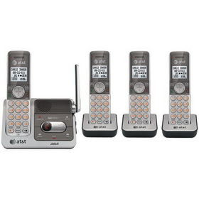 ATT ATTCL82401 DECT 6.0 Cordless Phone System with Caller ID & Digital Answering System (4-Handset System)