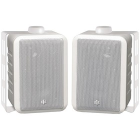 BIC AMERICA RTRV44-2W RtR Series Indoor/Outdoor 3-Way Speakers (White), Price/each