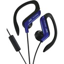 JVC HAEBR80A Sport-Clip In-Ear Ear-Clip Headphones with Microphone & Remote (Blue)