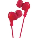 JVC HAFX5R Gumy Plus Inner-Ear Headphones (Red)