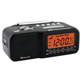 MIDLAND WR11 7-Channel Desktop Alarm Clock/Weather Alert Radio with AM/FM Radio