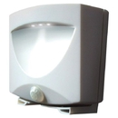 MAXSA INNOVATIONS 40341 Battery-Powered Motion-Activated Outdoor Night Light (White)