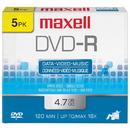 MAXELL 635042/635030/638002 4.7GB DVD-Rs (5 pk)