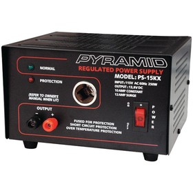 PYRAMID PS15KX 10-Amp 13.8-Volt Power Supply with Car Charger Adapter, Price/each