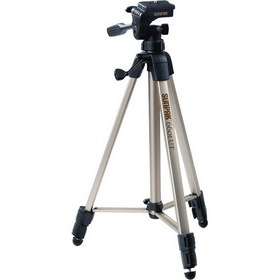 "SUNPAK 620-060 Tripods with 3-Way Panhead (Folded height: 20.3"" ; Extended height: 58.32"" ; Weight: 2.8 lbs; Includes 2nd quick-release plate)"
