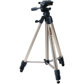 "SUNPAK 620-080 Tripods with 3-Way Panhead (Folded height: 20.8"" ; Extended height: 60.2"" ; Weight: 2.3 lbs; Includes 2nd quick-release plate)"