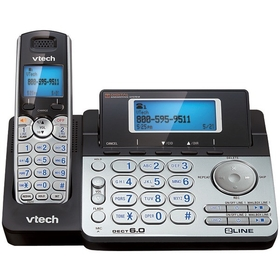 VTECH DS6151 DECT 6.0 Two-Line Cordless Phone System with Digital Answering System