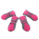 GOGO Dog Boots With Reflective Velcro Straps, Soft Sole Nonslip Mesh Boots, Breathable Paw Protector, Set of 4
