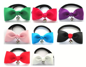 8 Pcs/Pack, GOGO Bowknot Ties with Bell, Dog Bow T...
