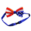 TopTie American Flag Bow Tie Dog Pet Bow Tie Including Collar