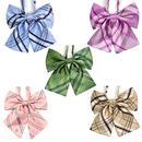 TopTie Adjustable Dog Bow Tie Collars Stripe Bowknot Bowtie for Medium Large Dogs