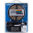 Lavolta KIT-1 RGB 300 LED 16 ft. Tape Lighting Strip 12 VDC Waterproof IP65 44-Key Remote 6A PSU