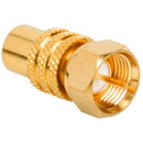 Gold RCA Jack to F Plug Adapter