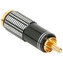 Parts Express Gold RCA Super Plug Connector Black 8.3 mm Cable Entry