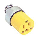 AC Power Receptacle 3 Conductor Yellow
