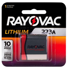 Rayovac RL223A 6V Lithium Photo / Electronic Battery