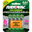 Rayovac LD715-8OP AA NiMH Rechargeable Batteries 8-Pack