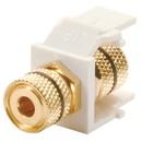 Wired Home KMM0K9 Keystone Module Blk 5-Way Binding Post Wht
