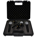 Talent DM3PAK DynaMic Ultravoice Cardioid Vocal Microphones 3-Pack with Case
