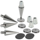 Dayton Audio DSS3-BC Black Chrome Speaker Spike Set 4 Pcs.