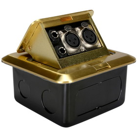 "Dayton FB5XG Floor Box with Dual XLR & 1/4"" Brass 5"" x 5"""