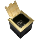 Parts Express Deep Floor Box with 6 XLR Brass 6