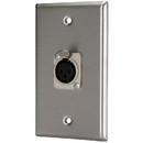 Pro Co WP1004 (1) XLR Female Stainless Steel Metal Wallplate Single Gang