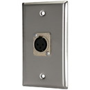 Pro Co WP1042 (1) XLR Female Stainless Steel Metal Wallplate Single Gang