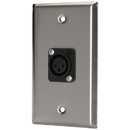 Pro Co WP1025 (1) XLR Female Stainless Steel Metal Wallplate Single Gang