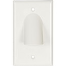 Single Gang Reversible Bulk Cable Wall Plate White