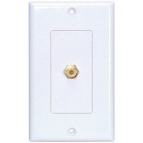 Dayton WP-1RCA Wallplate Single RCA Yellow Solder Tab