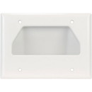 DataComm 45-0003-WH Triple Gang Recessed Bulk Cable Wall Plate White
