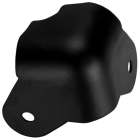 Penn-Elcom C1819K Metal Cabinet Corner Black Lipped