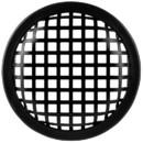 """5-1/4"""" Economy Waffle Style Steel Speaker Grill"""